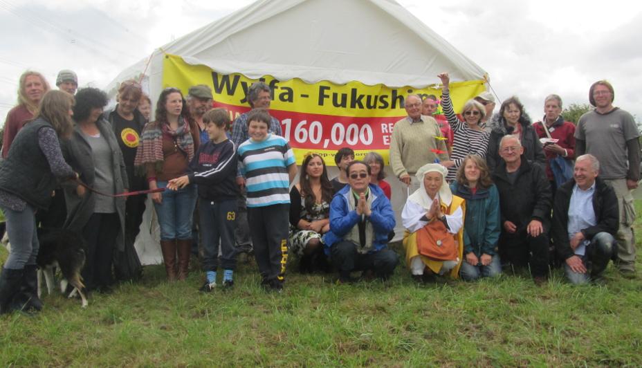 Gorymdaith PAWB Wylfa Fukushima